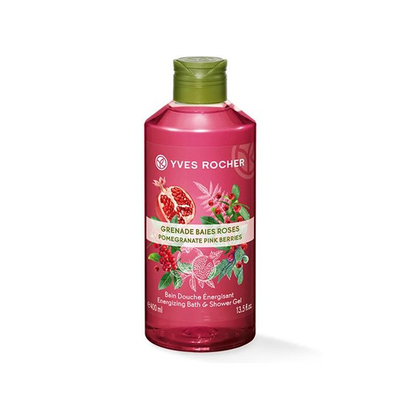 Gel Tắm POMEGRANATE PINK BERRIES ENERGIZING BATH AND SHOWER GEL 400ML-